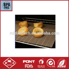 Ptfe Teflon mesh fabric for baking mat of bread,oven liner,pizza baking basket