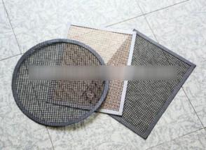 PTFE fiberglass baking mesh sheets,open mesh grill mat,border reinforced