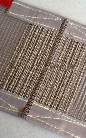 Non-sticky mesh fabric fiberglass mesh PTFE Teflon fabric with lowest price